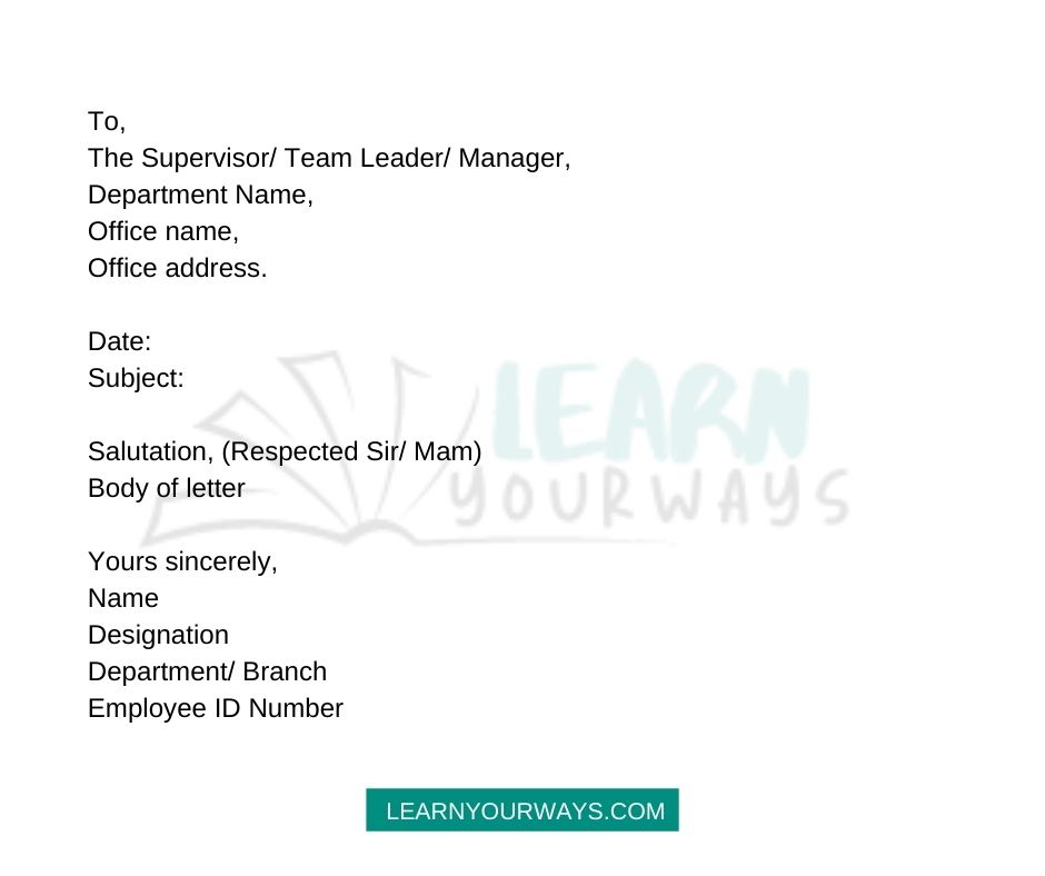 How To Write Sick Leave Application Format for private and government office employees
