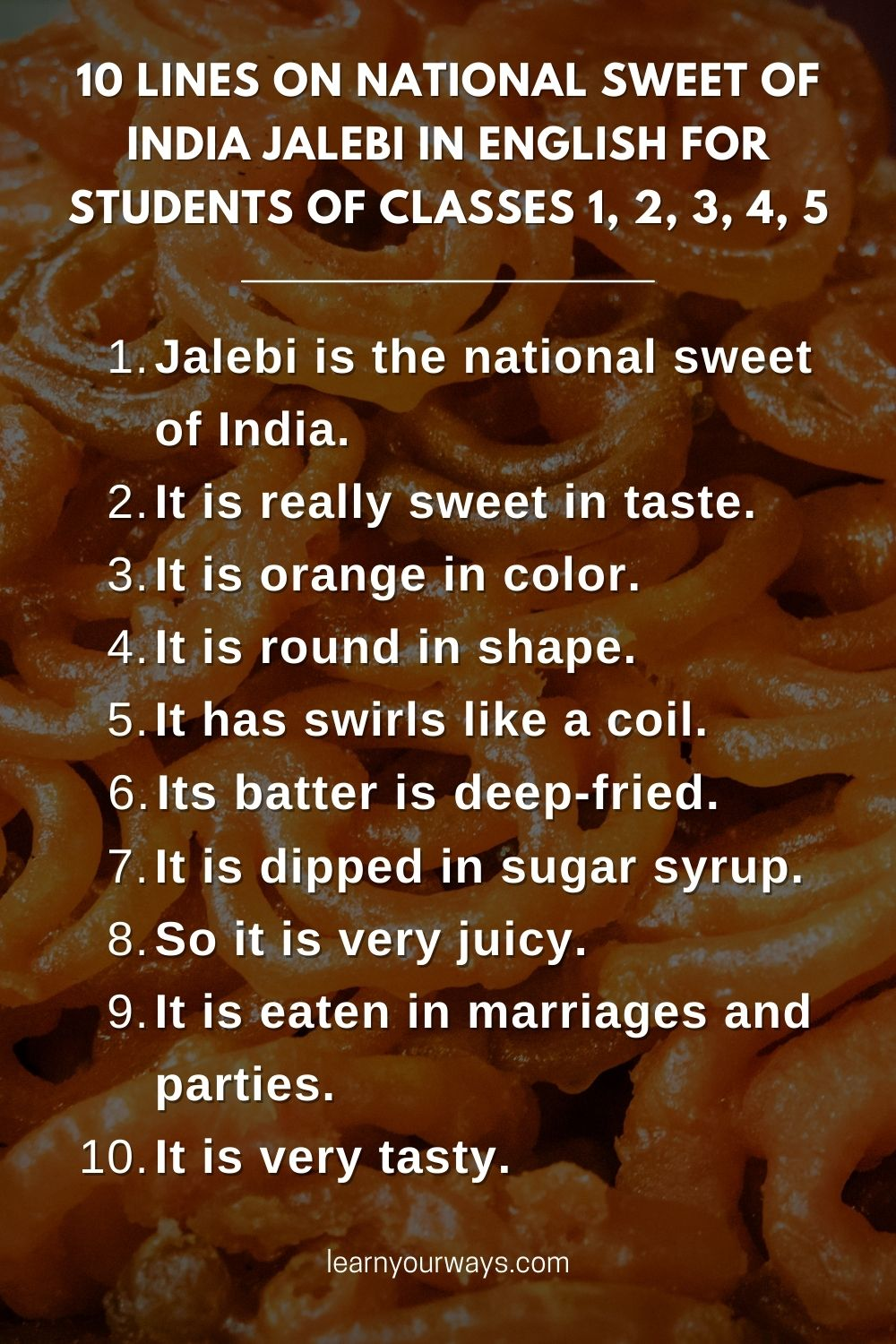 10 lines on National Sweet of India